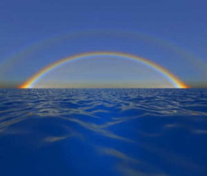 радуга над водой